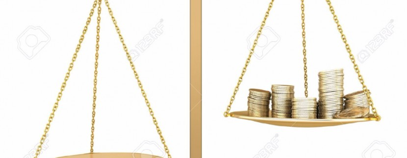9983213-Gold-balance-Something-more-than-money-Isolated-3D-concept-Stock-Photo