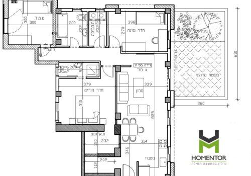 להשכרה דירת גן 4 חד' חדשה